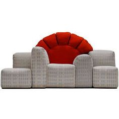"""Iconic and rare 1979 """"Sunset in Manhattan"""" sofa by Gaetano Pesce for Cassina"""