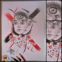 Eyes are the mirror of the soul; pencil drawing by Blaze
