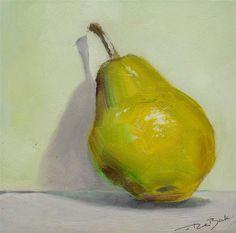 "Daily Paintworks - ""pear"" - Original Fine Art for Sale - © V. DeBak"