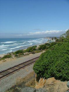 Del Mar, CA I know this little spot,my happy place where trains meet the beach!~LOVE affair of mine~ ~*~moonmistgirl~*~