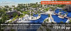 Wanderlust Wednesday.  Barcelo Maya Beach and Caribe, an All Inclusive Family Friendly Resort, is on sale this week out of St. Louis featuring up to $1200 Resort Credits! This 4 night package includes snorkeling, scuba diving, a kids club, and much much more. http://www.totallytrips.com/last-minute-deals/