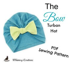 Bow Turban Hat PDF Sewing Pattern | YouCanMakeThis.com | Sewing Pattern