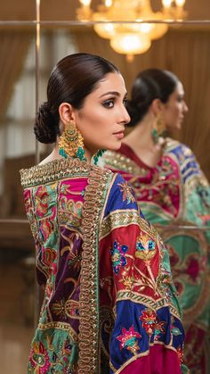Ayeza Khan is Looking Gorgeous in this Beautiful Colorful Outfit Pakistani Fashion Party Wear, Pakistani Dresses Casual, Pakistani Bridal Dresses, Pakistani Dress Design, Indian Fashion, Dress Indian Style, Indian Dresses, Indian Outfits, Indian Clothes