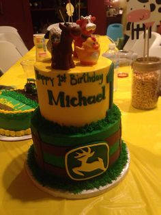 Michaels 1st Birthday cake