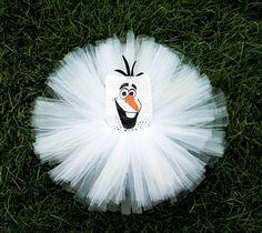 Olaf inspired Tutu Dress with Headband Personalized Birthday