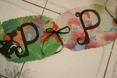 Close up of Peter Pan Birthday Banner