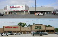 Fresh Market before & after in Covington Plaza, Fort Wayne, IN.
