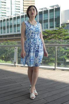 Blue Baroque Dress, a Zara-inspired design  | Prudence Petite Style.