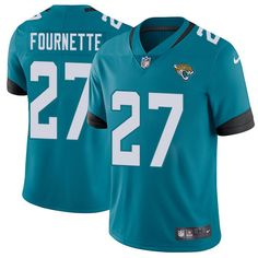 587b22b37ce Nike Jaguars  27 Leonard Fournette Teal Green Team Color Men s Stitched NFL  Vapor Untouchable Limited