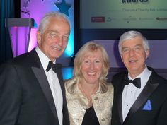 Anna, nominated for CEO of the year has her photo taken with the host, David Gower and our chairman Edward Thornton-Firkin.