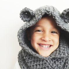 Hooded Bear or Wolf Cowl by morganela on Etsy