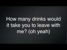 Miguel - How Many Drinks? (Lyrics) I love Miguel and this song.....