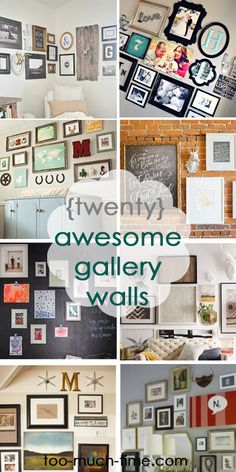 Main Ingredient Monday- Picture Frames/Gallery Walls 20 gallery walls