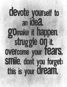 Devote yourself on your mind