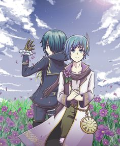 Creds by Keeko @Pixiv KAITO Vocaloid Kaito, Kaito Shion, Little Blessings, Some Image, My Favorite Image, Manga, Hetalia, Cute Art, Cool Pictures