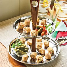 Rolled Olive Sandwiches Party Appetizer Recipes < Best Party Appetizer Recipes - Southern Living Mobile