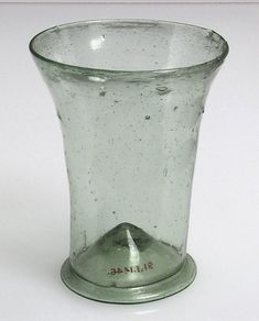 Beaker Date: 16th century Culture: German Medium: Glass Dimensions: Overall: 3 7/8 x 3 1/16 in.