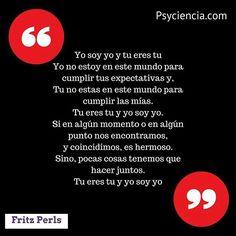 La oración Gestalt de Fritz Perls // Sigue a @Psyciencia #psychology