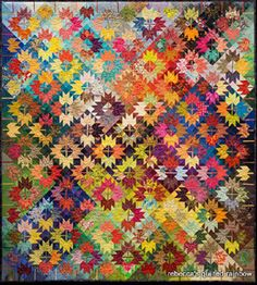 'Mass Maples' by Timna Tarr – Hadley, MA Best Pieced Award I love the color placement that make it appear to glow.