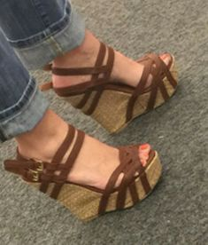 That doesn't like attractive wedges?, see our amazing variety of zip-back and strap wedges for any situation! Shoes Heels Wedges, Wedge Shoes, Wedge Sandals, Heeled Boots, Shoe Boots, Platform High Heels, Pretty Shoes, Me Too Shoes, Fashion Shoes