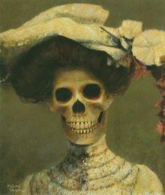 "Michael Thomas - ""Edwina The Edwardian Skeleton Lady"""
