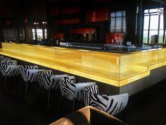 glowing honey onyx bar