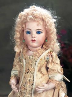 Beautiful French Bisque Bebe by Leon Casimir Bru,Size 3,with Splendid Eyes - that Bru face!!