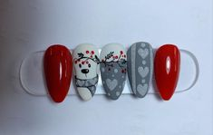 Christmas Nails, Computer Mouse, Christmas Manicure, Pc Mouse, Xmas Nails, Mice