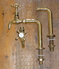 Traditional Belfast Sink Polished Brass BIB Taps With OR Without Upstands NEW | eBay