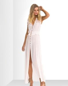 Suboo pagoda contrast maxi dress