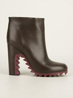 JIL SANDER - ridged sole ankle boot