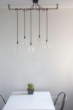 Industrial Lighting Fixtures for Home – Lighting Ideas Dining Room Light Fixtures, Kitchen Pendant Lighting, Dining Room Lighting, Rustic Lighting, Industrial Lighting, Home Lighting, Lighting Ideas, Track Lighting, Pendant Light Bulb