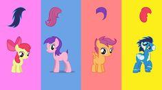 Wrong Heads Rabos Trocados My Little Ponny Aprendendo Cores para Crianças