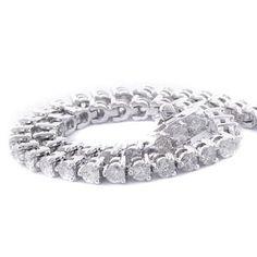 #Malakan #Jewelry - White Gold Diamond Tennis Bracelet  B133B #Bracelet #Fashion #TennisBracelet