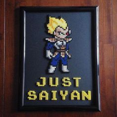 Vegeta Dragon Ball perler beads by honey.beads: - Visit now for 3D Dragon Ball Z shirts now on sale!