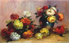 Bouquets of Flowers - Pierre-Auguste Renoir
