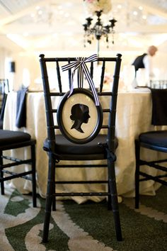 silhouette chair decor | Alyse French #wedding