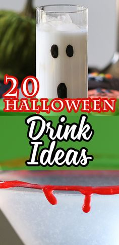 20 Halloween Drinks to make at home!  Make Halloween awesome with these DELICIOUS drink ideas!