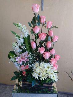 Funeral Flower Arrangements, Church Flower Arrangements, Church Flowers, Rose Arrangements, Beautiful Flower Arrangements, Funeral Flowers, Unique Flowers, Luxury Flowers, Arte Floral