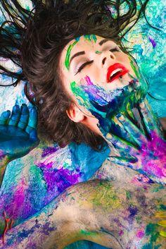 colour. paint. lady. woman. color.