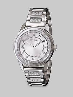 Breil Swarovski Crystal Accented Stainless Steel Watch - Silver -