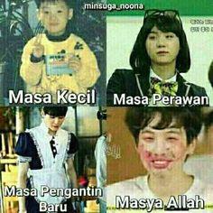 Ideas For Memes Indonesia Bts Cartoon Jokes, Funny Cartoons, Funny Tweets Twitter, Memes Funny Faces, New Memes, Relationship Memes, Bts Korea, Life Memes, Album Bts