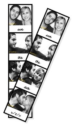 Custom Photo Booth Save the Date Magnet Only by LovebirdsPaperee, $1.25