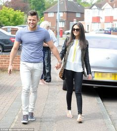 Sweethearts: Mark Wright and Michelle Keegan enjoy some quality time together out and abou...