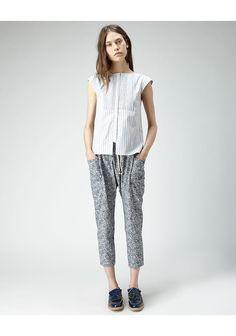 new neutrals / Suno / Printed Cropped Pant | La Garçonne