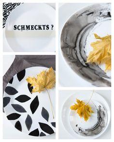 DIY: Upgrade Ideen für weiße Teller
