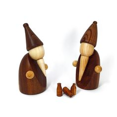 """drunken santas  #wood #woodturning #woodworking #handmade #lathe #art #organic…"