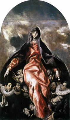 el greco The Madonna of Charity 1603-05  Oil on canvas, 155 x 123 cm  Hospital de la Caridad, Illescas