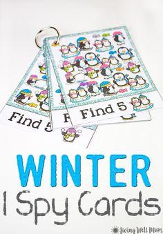 Winter I Spy For Kids {Free Printable}