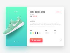 Dribbble - Nike Product Page by Ilja Miskov
